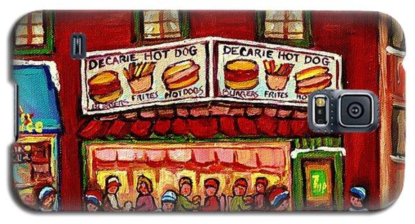 Decarie Hot Dog Restaurant Cosmix Comic Store Montreal Paintings Hockey Art Winter Scenes C Spandau Galaxy S5 Case