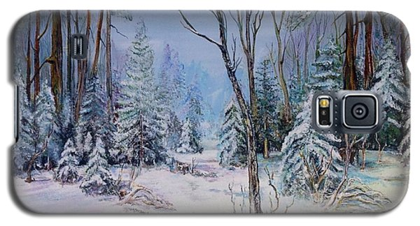 Galaxy S5 Case featuring the painting December Light by Iya Carson