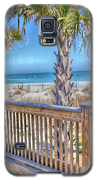 Galaxy S5 Case featuring the photograph Deck On The Beach by Gayle Price Thomas