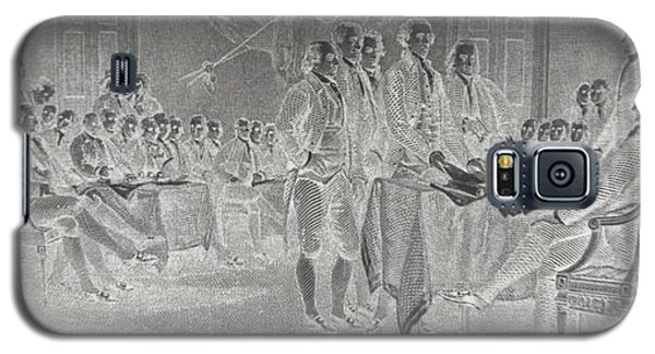 Declaration Of Independence In Negative Galaxy S5 Case by Rob Hans