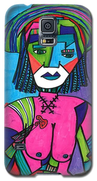Galaxy S5 Case featuring the drawing Deco Diva by Don Koester