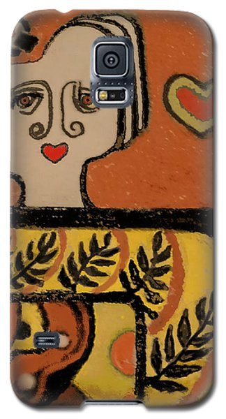 Deco Queen Of Hearts Galaxy S5 Case