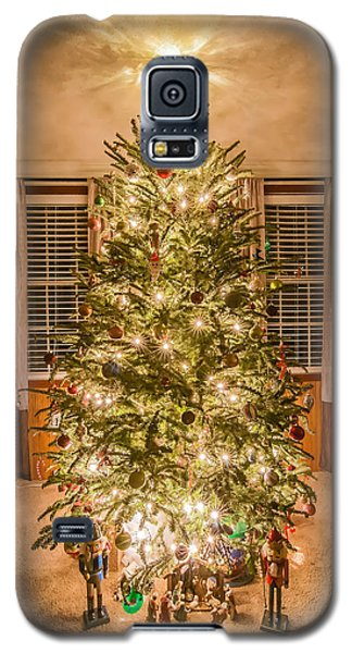 Galaxy S5 Case featuring the photograph Decorated Christmas Tree by Alex Grichenko