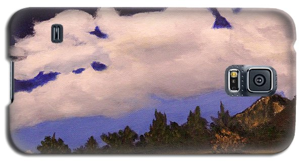 Galaxy S5 Case featuring the painting Deep Blue Sky by Janet Greer Sammons
