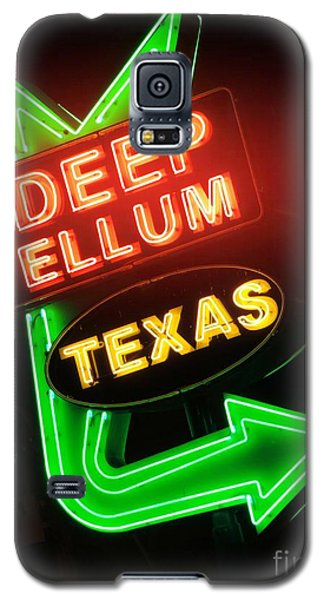 Deep Ellum Red Glow Galaxy S5 Case