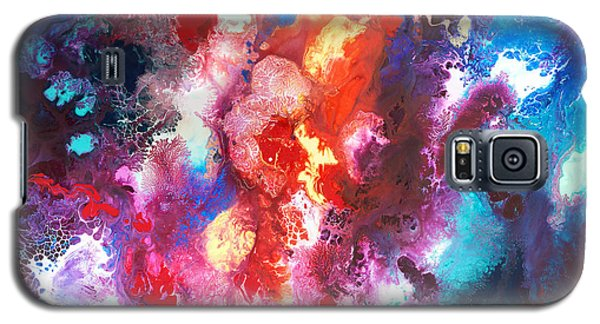Deep Water Coral Galaxy S5 Case by Sally Trace