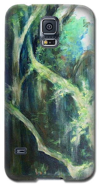 Galaxy S5 Case featuring the painting Deep Woods by Mary Lynne Powers