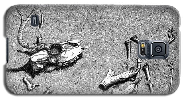 Galaxy S5 Case featuring the drawing Deer Bones by Daniel Reed
