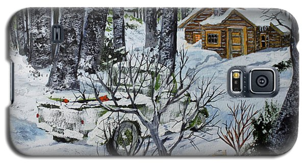 Deer Camp 141114 Galaxy S5 Case by Jack G  Brauer