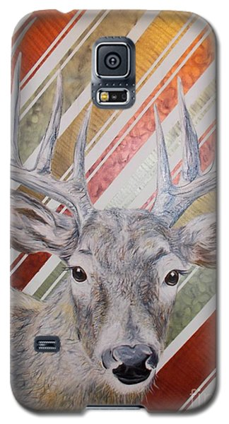 Galaxy S5 Case featuring the painting Deer Deco by PainterArtist FINs husband