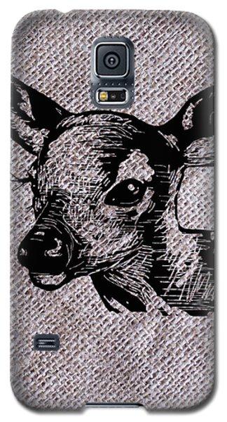 Deer On Burlap Galaxy S5 Case