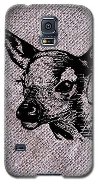 Deer On Burlap Galaxy S5 Case