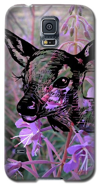 Deer On Flower Galaxy S5 Case