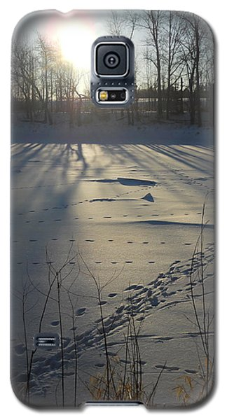 Deer Tracks On The River Galaxy S5 Case