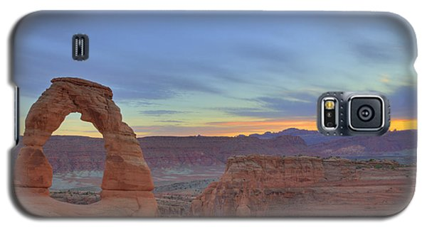 Galaxy S5 Case featuring the photograph Delicate Arch At Sunset by Alan Vance Ley