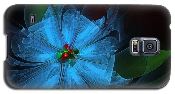 Delicate Blue Flower-fractal Art Galaxy S5 Case