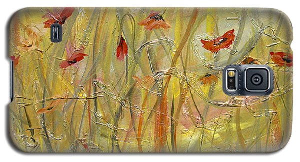 Galaxy S5 Case featuring the painting Delicate Poppies by Dorothy Maier