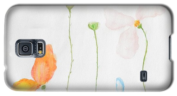 Galaxy S5 Case featuring the painting Delicate  by Reina Resto