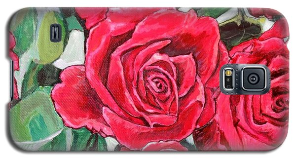 Galaxy S5 Case featuring the painting Delight Of Grandma's Roses Painting by Kimberlee Baxter