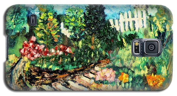 Galaxy S5 Case featuring the painting Delphi Garden by Michael Daniels