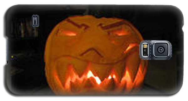 Galaxy S5 Case featuring the sculpture Demented Mister Ullman Pumpkin 2 by Shawn Dall