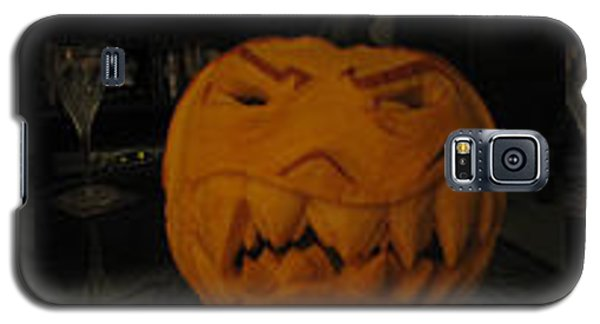 Galaxy S5 Case featuring the sculpture Demented Mister Ullman Pumpkin 3 by Shawn Dall