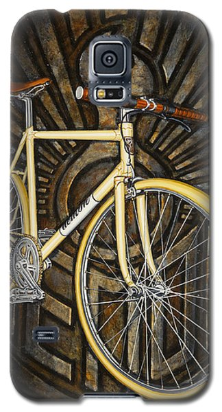Galaxy S5 Case featuring the painting Demon Path Racer Bicycle by Mark Howard Jones