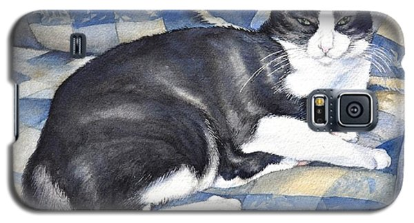 Galaxy S5 Case featuring the painting Denise's Cat by Sandra Phryce-Jones
