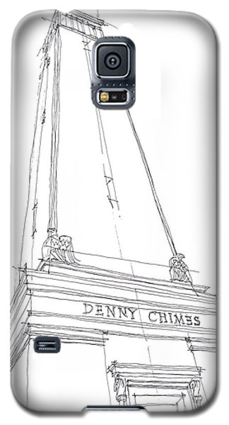 Galaxy S5 Case featuring the drawing Denny Chimes Sketch by Calvin Durham
