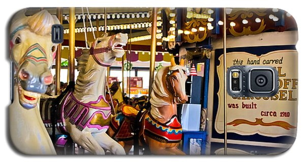 Dentzel Looff Antique Carousel  Galaxy S5 Case by Colleen Kammerer