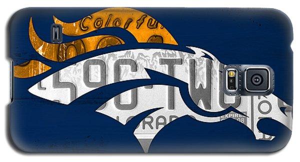 Sport Galaxy S5 Case - Denver Broncos Football Team Retro Logo Colorado License Plate Art by Design Turnpike