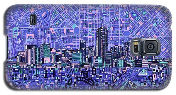 Denver Skyline Abstract 4 Galaxy S5 Case