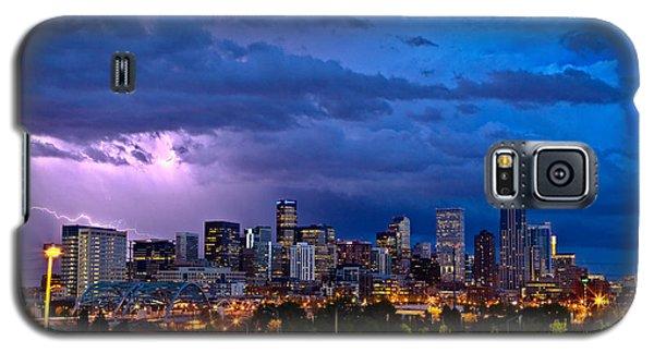 City Scenes Galaxy S5 Case - Denver Skyline by John K Sampson