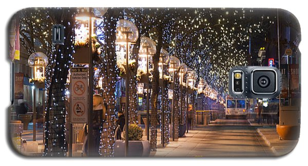 Denver's 16th Street Mall At Christmas Galaxy S5 Case