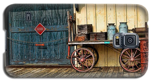 Galaxy S5 Case featuring the photograph Depot Wagon by Kenny Francis