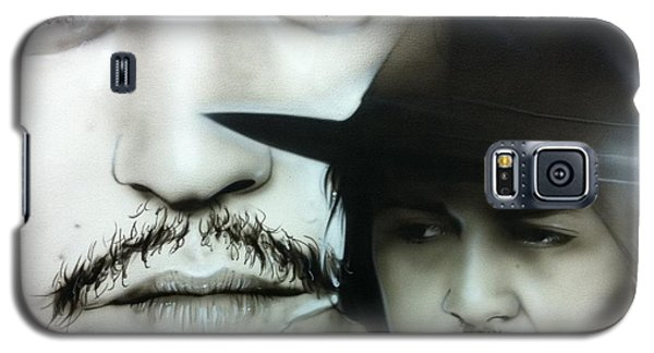 Johnny Depp - ' Depp ' Galaxy S5 Case by Christian Chapman Art