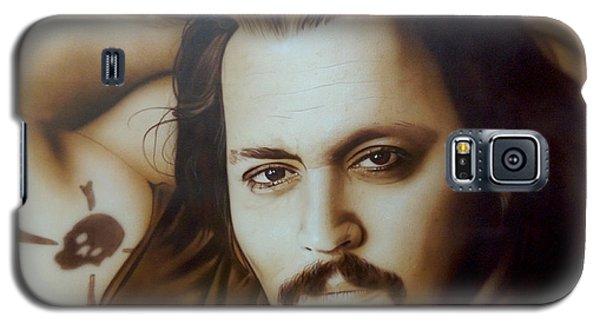 Johnny Depp - ' Depp II ' Galaxy S5 Case by Christian Chapman Art