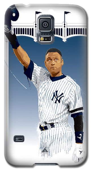 Galaxy S5 Case featuring the digital art Derek Jeter 3000 Hits by Scott Weigner