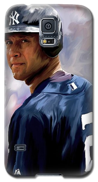 Derek Jeter  Galaxy S5 Case by Iconic Images Art Gallery David Pucciarelli