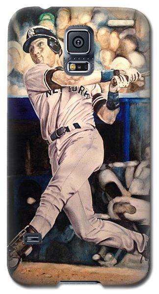 Galaxy S5 Case featuring the painting Derek Jeter by Lance Gebhardt