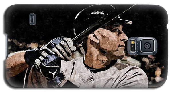 Derek Jeter On Canvas Galaxy S5 Case by Florian Rodarte