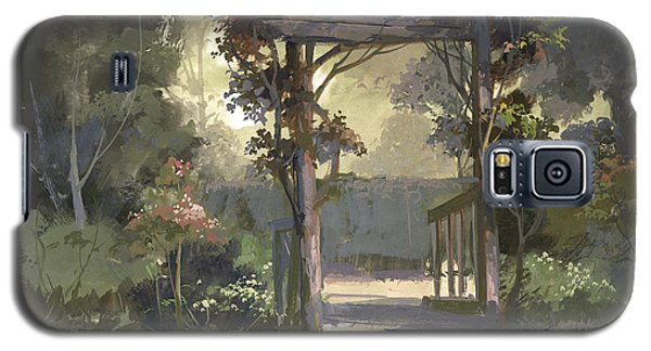 Galaxy S5 Case featuring the painting Descanso Gardens by Michael Humphries