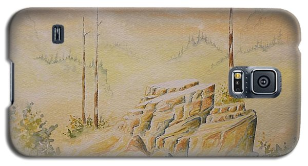 Galaxy S5 Case featuring the painting Deschutes Canyon by Richard Faulkner