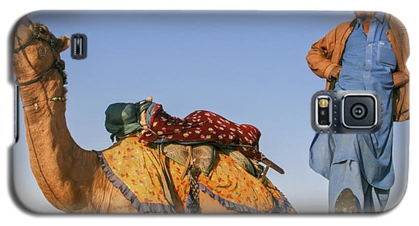 Desert Dance Of The Dromedary And The Camel Driver Galaxy S5 Case