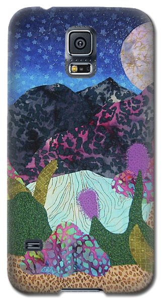 Galaxy S5 Case featuring the tapestry - textile Desert Dreaming by Ellen Levinson