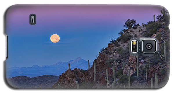 Desert Moonset Galaxy S5 Case