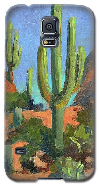Desert Morning Saguaro Galaxy S5 Case by Diane McClary
