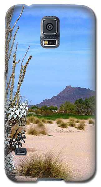 Galaxy S5 Case featuring the photograph Desert Mountain by Mike Ste Marie