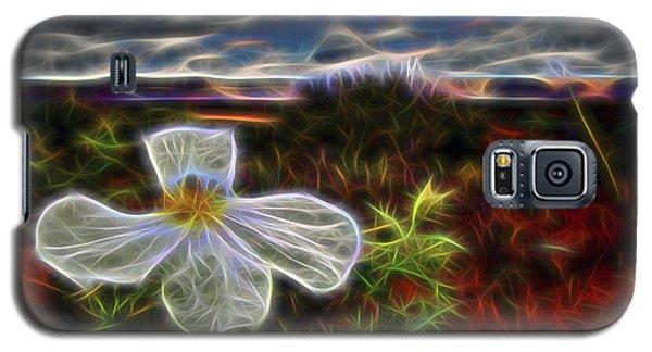 Galaxy S5 Case featuring the digital art Desert Primrose 1 by William Horden