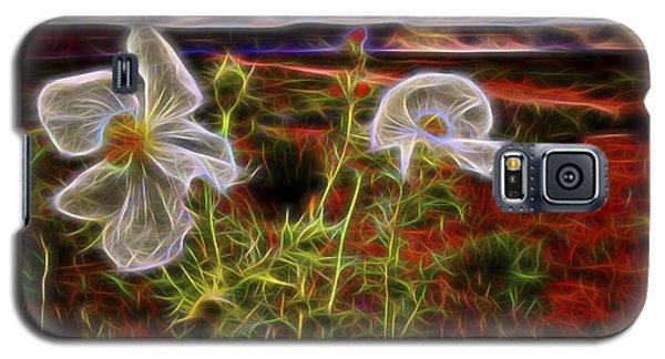 Galaxy S5 Case featuring the digital art Desert Primrose 2 by William Horden